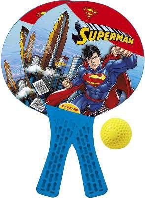 Toyzone Superman Kids Indoor and Outdoor Toy Racket Set