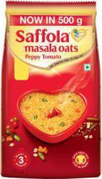 Saffola Peppy Tomato Masala Oats  (500 g, Pouch)
