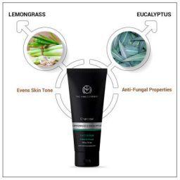 TheManCompany Charcoal Face Scrub: Lemongrass & Eucalyptus