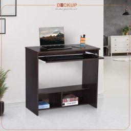 Deckup Bonton Office Table and Study Desk (Dark Wenge, Matte Finish)