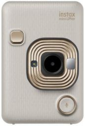 Fujifilm Instax Mini LiPlay Hybrid Instant Camera (Beige Gold)