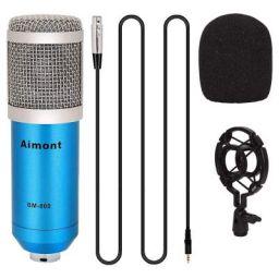 AIMONT BM800 Sound Studio Recording Dynamic Professional Condenser Microphone Set Blue