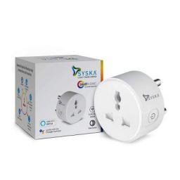Syska SSK-MWP-002 ABS Smart Wi-Fi Enabled Plug (White)