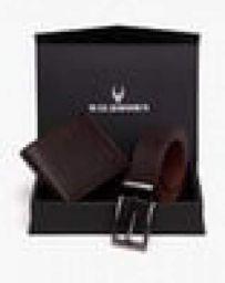 WILDHORN Textured Bi-Fold Wallet with Belt