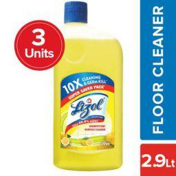 Lizol Disinfectant Floor Cleaner, Citrus, 975 ml (Pack of 3)