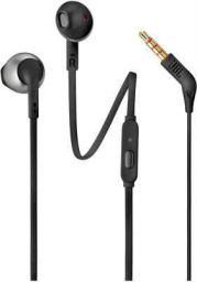 JBL T205 Wired Headset  (Black, In the Ear)