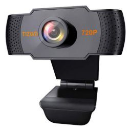 Tizum HD 720p Webcam, Manual Focus, Widescreen Viewing Angle