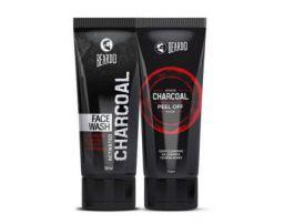 Beardo Activated Charcoal Facewash & Peel Off Mask Combo