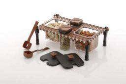 AMAR IMPEX Multipurpose Khatli Tray Dry Fruit, Candy, Chocolate, Snacks Storage Box for Dinning Table (Set of 4)