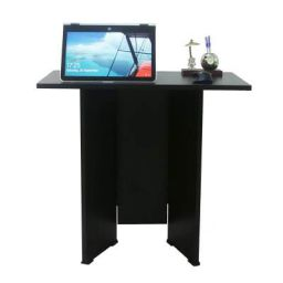 Ebee Engineered Wood Laptop Desk (Modular, Finish Color - Wenge Brown)