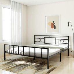 Amazon Brand - Solimo Cyrus Metal King Bed (Black)