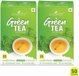 Neuherbs Green Tea for Weight Management with Lemon Flavour 50 Tea Bags
