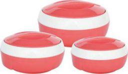Princeware Solar Pack of 3 Thermoware Casserole Set (1500 ml, 1000 ml, 600 ml)