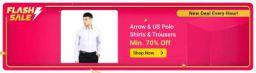 Arrow & US Polo Shirts & Trousers Minimum 70% off