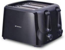 Sansui Colossus 4 slice 1400 W Pop Up Toaster (Carbon Black)