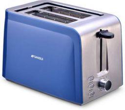 Sansui Prima 2 Slice 750 W Pop Up Toaster (Sky Blue, Chrome)