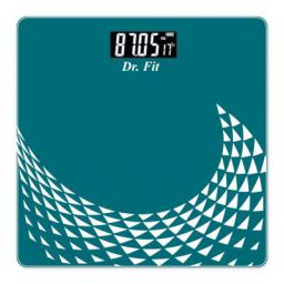 Dr. Fit Glass Top Electronic Digital Weighing Scale