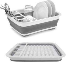 Clazkit Drain Sink Storage Basket, Space Saving for Kitchen Home