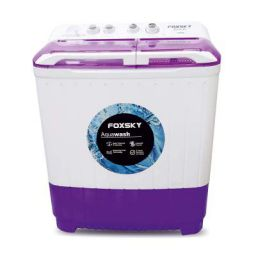 Foxsky 6.8 kg Semi-Automatic Top Loading Washing Machine (FOXSKY AQUA WASH 6.8 KG, PURPLE)