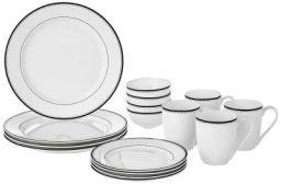 Amazon Brand Solimo Handmade Ceramic Dinnerware Set, 16 Pieces