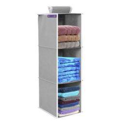 PrettyKrafts 3 Tiers Clothes Hanging Organizer, Wardrobe for Regular Garments, Shoes Storage Cupboard, Hanger Bag