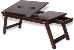 Hopz Wood Portable Laptop Table  (Finish Color - Brown)