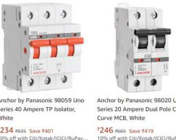 Anchor By Panasonic Electric Product Upto 70% Off