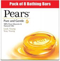 Pears Pure & Gentle Bathing Bar  (8 x 125 g)