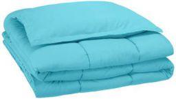 AmazonBasics Easy-Wash Microfiber Kid's Comforter and Pillow Cover Set