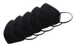 F Gear Standard Size Mask for Adult Color Black F95 Safeguard 7 layer