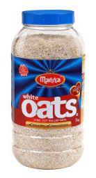 Manna Oats (1kg Jar) - Gluten Free Steel Cut Rolled Oats.