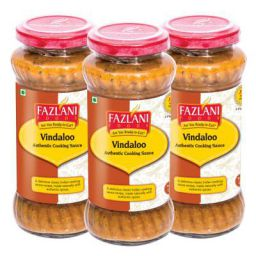 FAZLANI FOODS Ready to Eat Vindaloo Sauce,-Pack of 3, 285gm Each