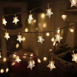 SATYAM KRAFT 20 Star String Lights for Indoor Outdoor Decoration (3 Meter, Yellow)