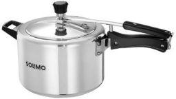 Amazon Brand - Solimo Aluminium Inner Lid Pressure Cooker 5 L (Non- Induction Base)