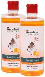 Himalaya 1L Orange Pure Hands Sanitizer with Alcohol - Set of 2 Bottles 500ml each