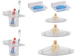 Kamal Soap Dish (S2), Glass Holder (S2), Corner Shelf Set