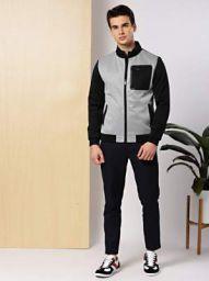 Invictus Full Sleeve Color Block Men Jacket
