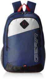 Gear 14 cms Blue Casual Backpack (MDBKPECO50504)
