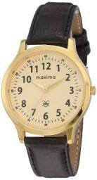 Maxima Analog Champagne Dial Men's Watch - O-44981LMGY