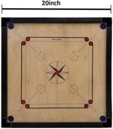 satya sports Matt Finish Club Carrom Board Only For kid's (SIZE-20Inch) 50.8 cm Carrom Board  (Multicolor)