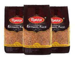 Manna Unpolished Brown Rice 1 Kg - Pack of 3
