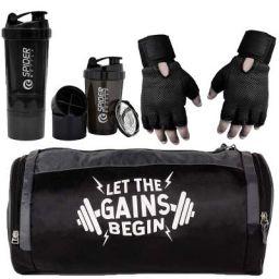 5 O' CLOCK SPORTS Combo of Gym Bag & Fitness Kit