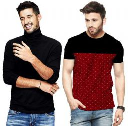 Leotude Men's Regular Fit T Shirt Combo (Color: Multi)
