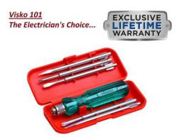 Visko Tools 101 Screwdriver Kit (Red 6-Pieces)