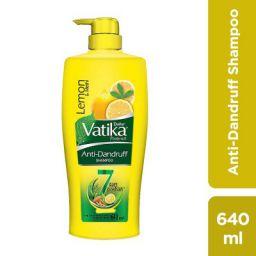 Dabur Vatika Anti Dandruff Shampoo, with Lemon & Methi for Dandruff Free Hair - 640ml