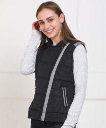 Provogue Sleeveless Solid Women Jacket