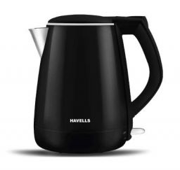Havells Aqua Plus 1.2 litre Kettle/Tea Kettle/Coffee Maker/Milk Boiler/Water Boiler/ 304 Stainless Steel (Black, 1500 Watt)