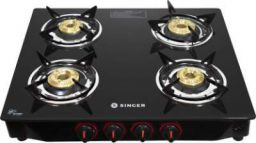 Singer SGS04GTNM Glass Manual Gas Stove a(4 Burners)