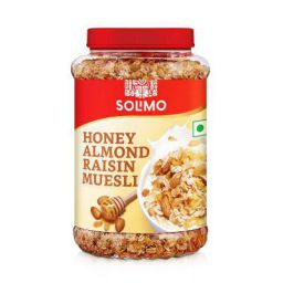 Amazon brand - Solimo Honey Almond and Raisin Muesli 1kg