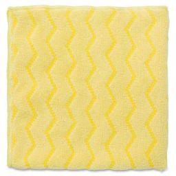 Rubbermaid FGQ61000YL00 Hygen 16 Inch x 16 Inch Microfiber Cloth, 12 Pack, Yellow, 16 Inch x 6.299 Inch x 6.299 Inch